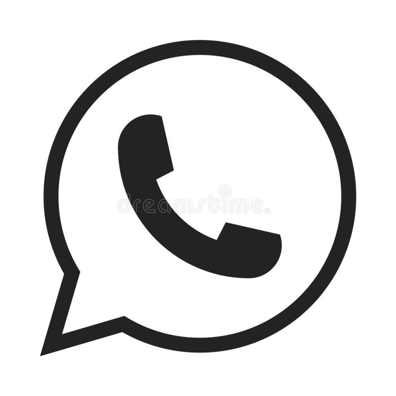Telephone icon symbol, vector, whatsapp logo symbol. Phone