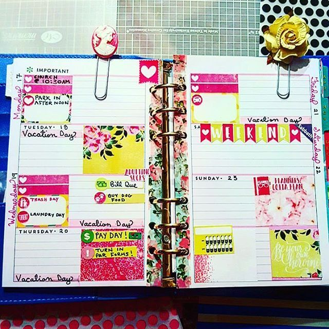 My Very First Week In My Mini Happy Planner/ Recollections