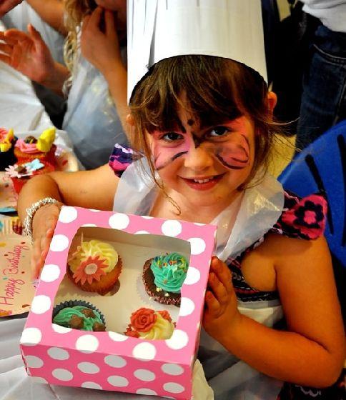 Oficina de cupcake para festas infantis