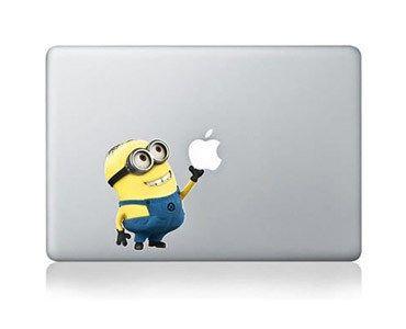 "Laptop Vinyl Sticker for MacBook 13/"",15/"" or 17/"" 2 MINIONS Despicable Me"