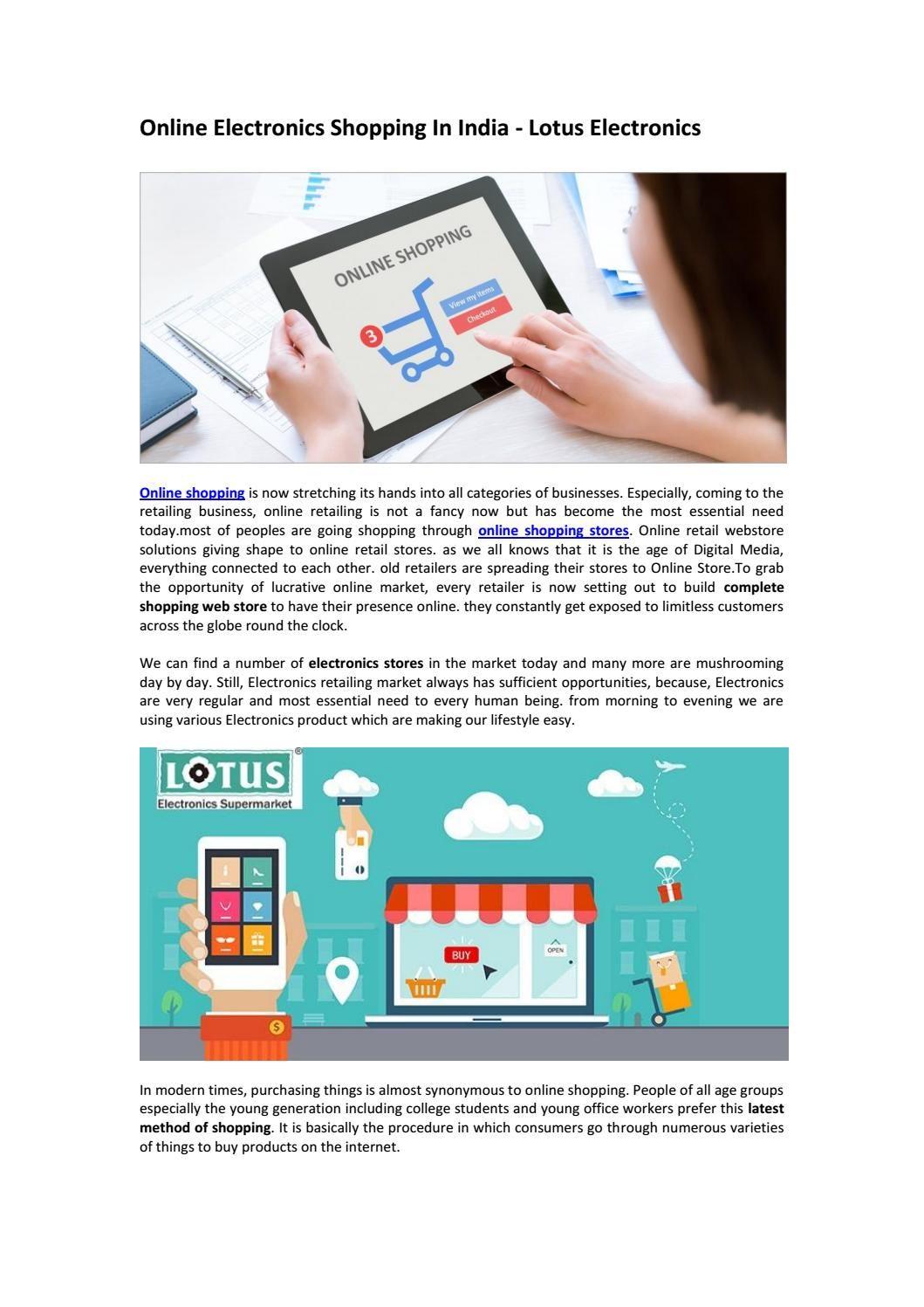 Online electronics shopping in india lotus electronics