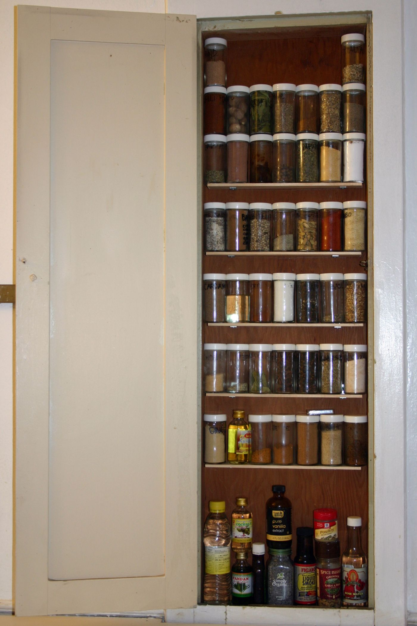 Spice Cabinet Built In Between The Studs For The Home In