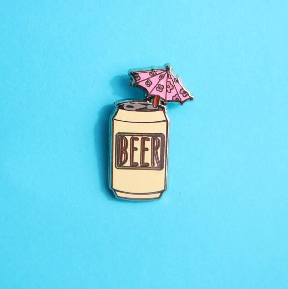 beer with umbrella pin