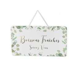 Pancarte eucalyptus boissons fraîches #boissonsfraîches 10 cartes eucalyptus laissez nous un petit mot #boissonsfraîches