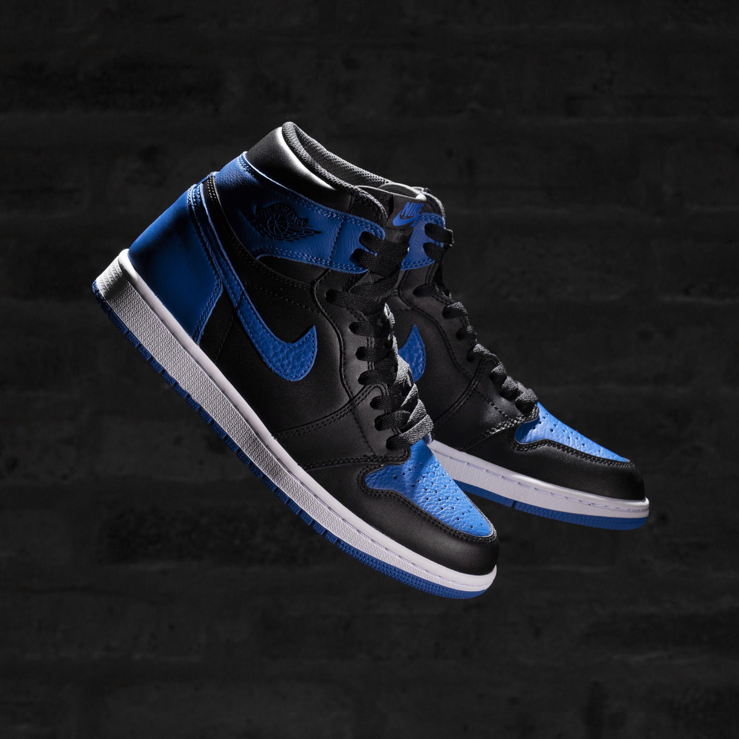 2017 Nike Air Jordan 1 Nike Retro High Og Royal Blue Air Jordan 1 Retro High Og Royal Air Jordans Jordan 1 Royal Sneakers