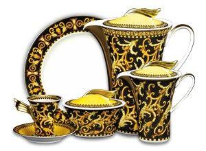 Versace, Barocco 21-Piece Coffee Set, Buy Online at LuxDeco