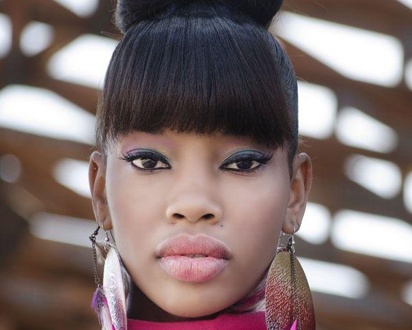 Fantastic Weave Bun Hairstyles With Bangs Imagesgratisylegal Short Hairstyles Gunalazisus