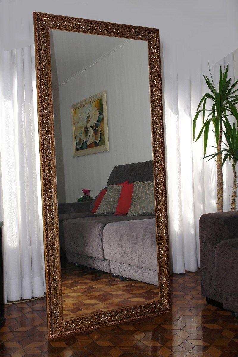 Espelho Grande Moldura Em Madeira Trabalhada 1 70 X 0 70 R 489  ~ Espelho Grande Para Quarto Barato