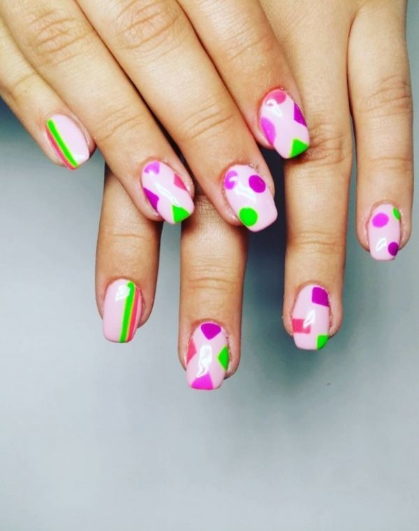 40 Catchy Geometric Nail Art Ideas You would Love to Try | Geometric ...