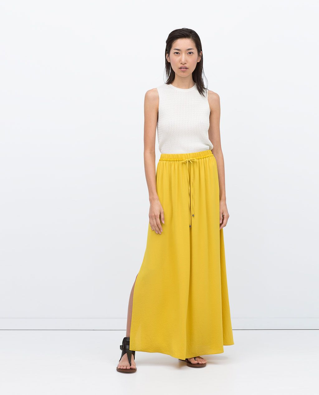 b43586db6 Image 1 of LONG SKIRT WITH SLITS from Zara | SPRING/SUMMER-6 | Maxi ...