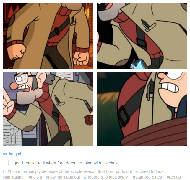 he is owl we knew but is fun to notice this things gravityfalls ford gravity falls fan art gravity falls funny gravity falls art gravity falls fan