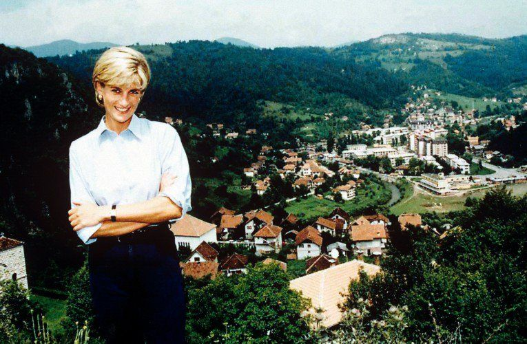One of the last pictures taken of Princess Diana before her death. Here she is promoting the Landmine Survivors Network in Bosnia in August, 1997.