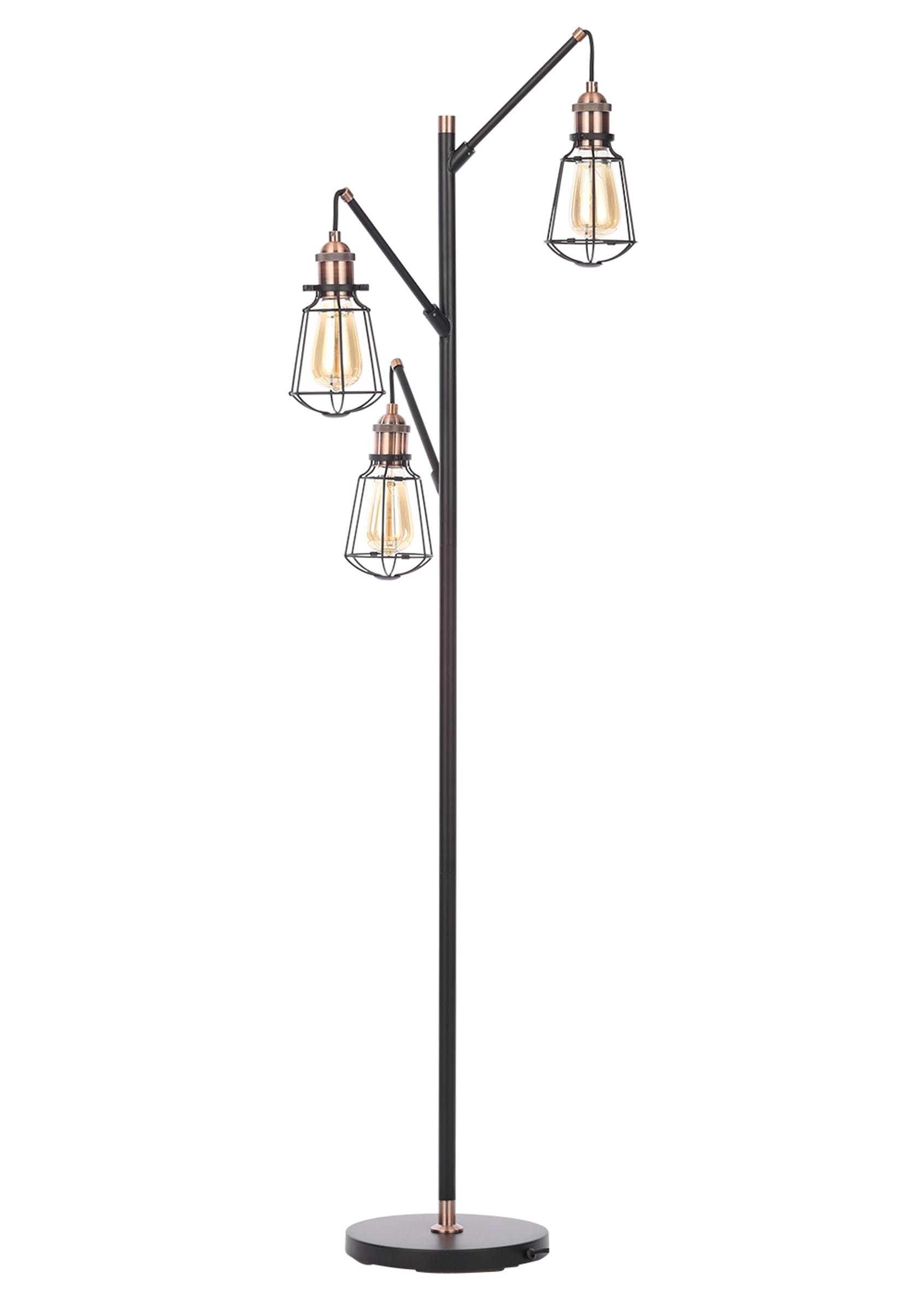 Callisto Caged Floor Lamp H150cm X W53cm Black With Images