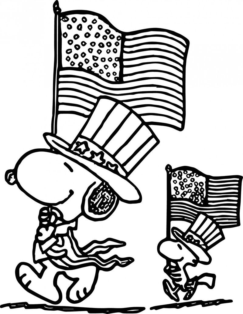 4th Of July Coloring Pages To Commemorate The Independence Day Free Coloring Sheets Snoopy Coloring Pages Crayola Coloring Pages Flag Coloring Pages