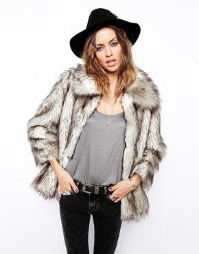 Asos Fur Vintage Coat Asos Faux Vintage SnHqOPv
