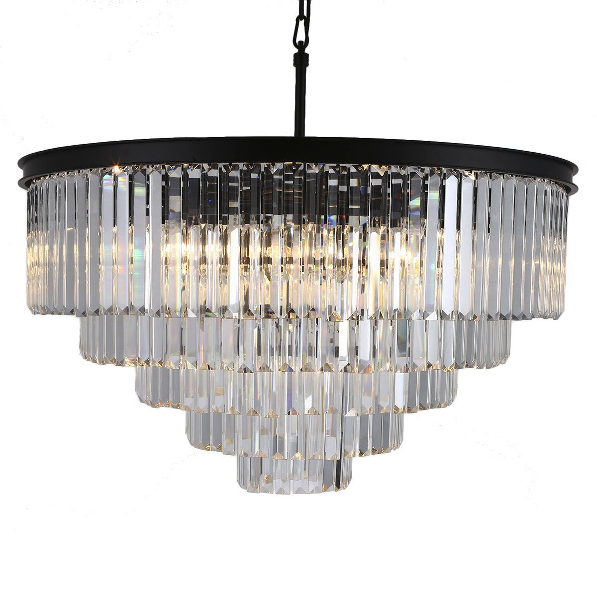 Odeon Crystal Chandelier 17 Lights Round Pendant Hanging Light