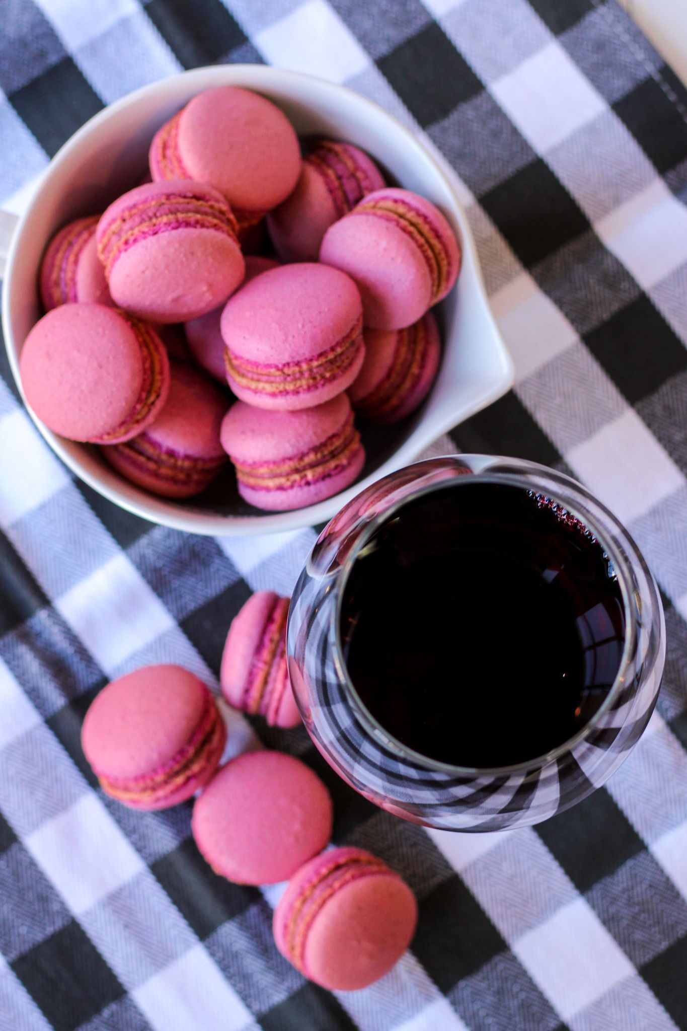 Raspberry and Merlot Macarons   Bakes and Blunders