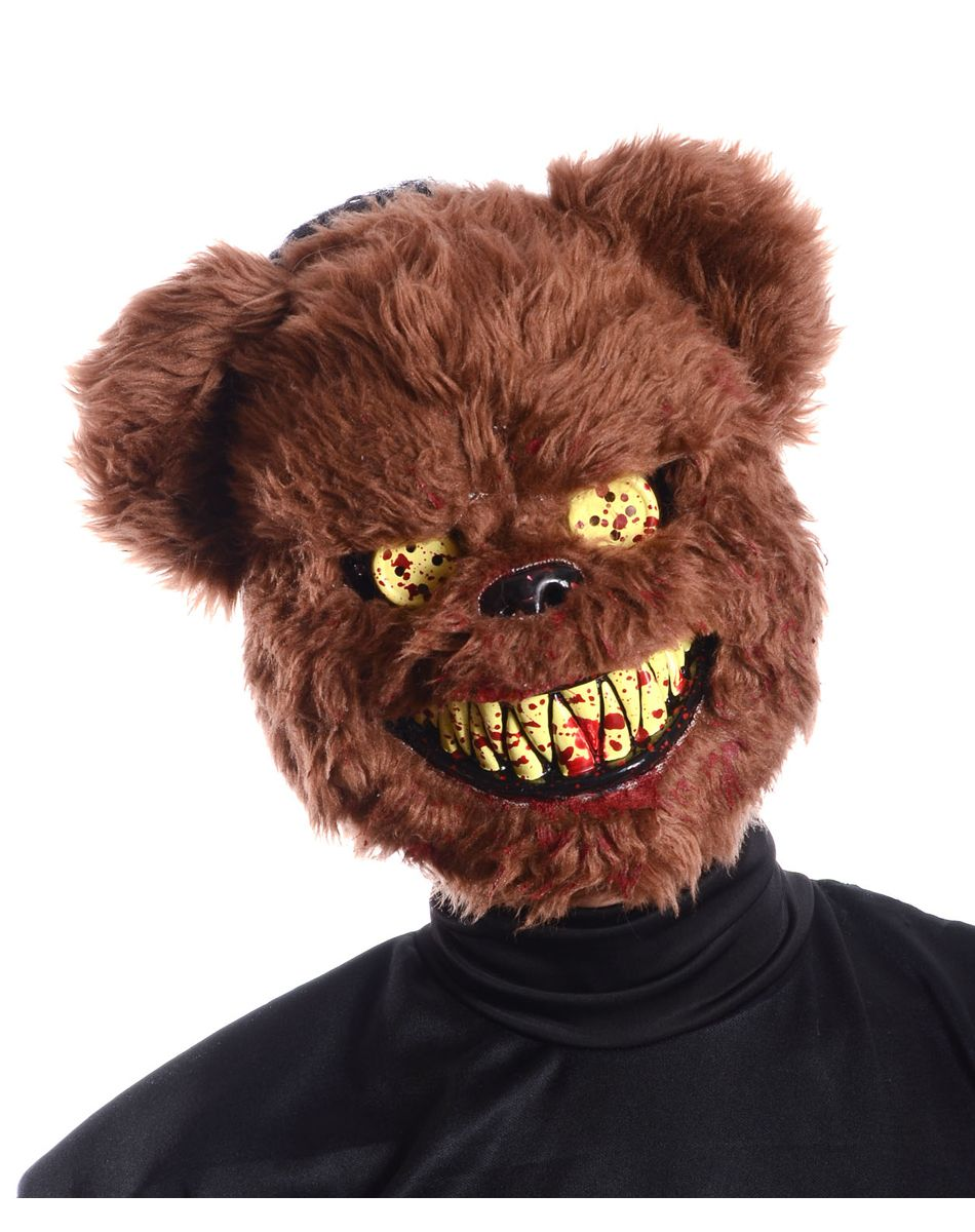 Brown Scary Teddy Bear Mask – Spirit Halloween | halloween ...