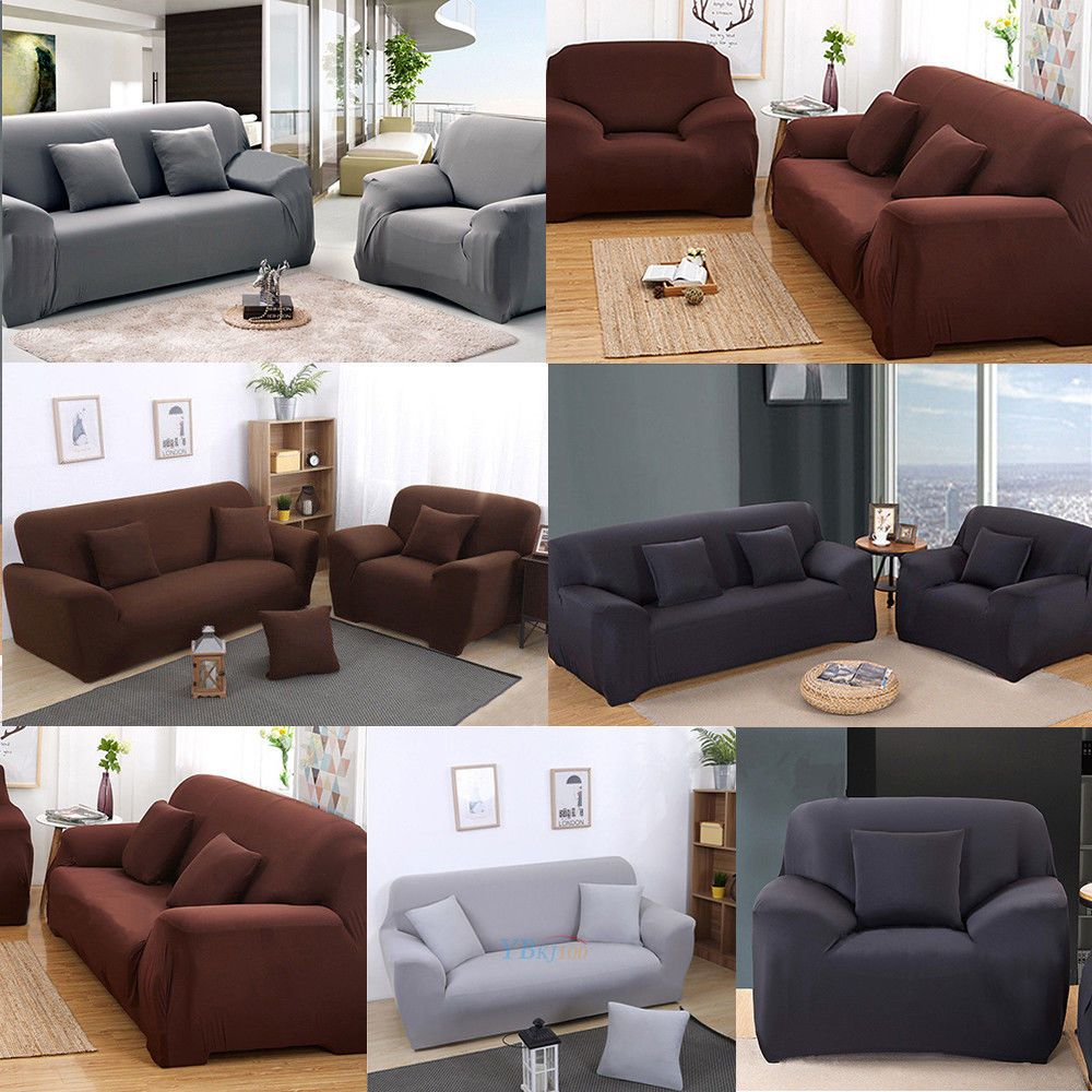 1 2 3 Seater Sofa Cover Slipcover Stretch Elastic Couch Home