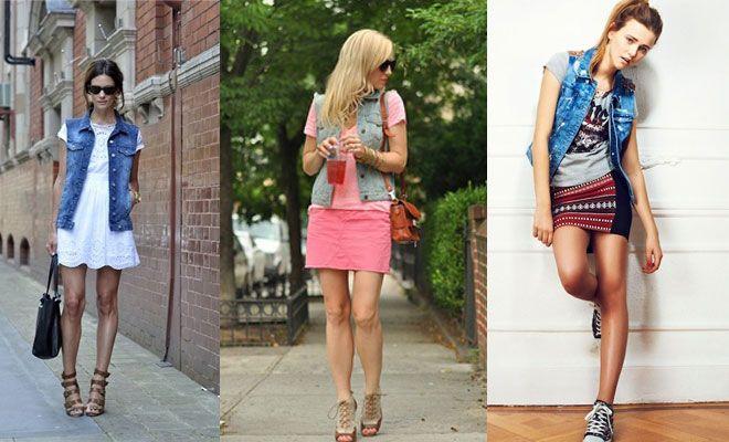 Cu00f3mo combinar chaleco vaquero con faldas cortas | Chaleco vaquero | Pinterest | Winter Clothes ...
