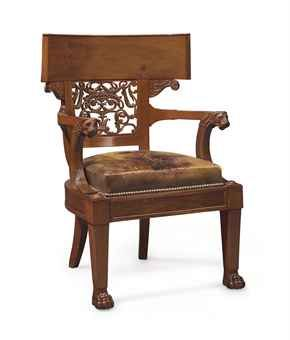 A CONSULAT MAHOGANY FAUTEUIL l Christie's The Connoisseur's Eye - Sale 2738 - 24th of October 2013 @ Rockefeller Center, New York