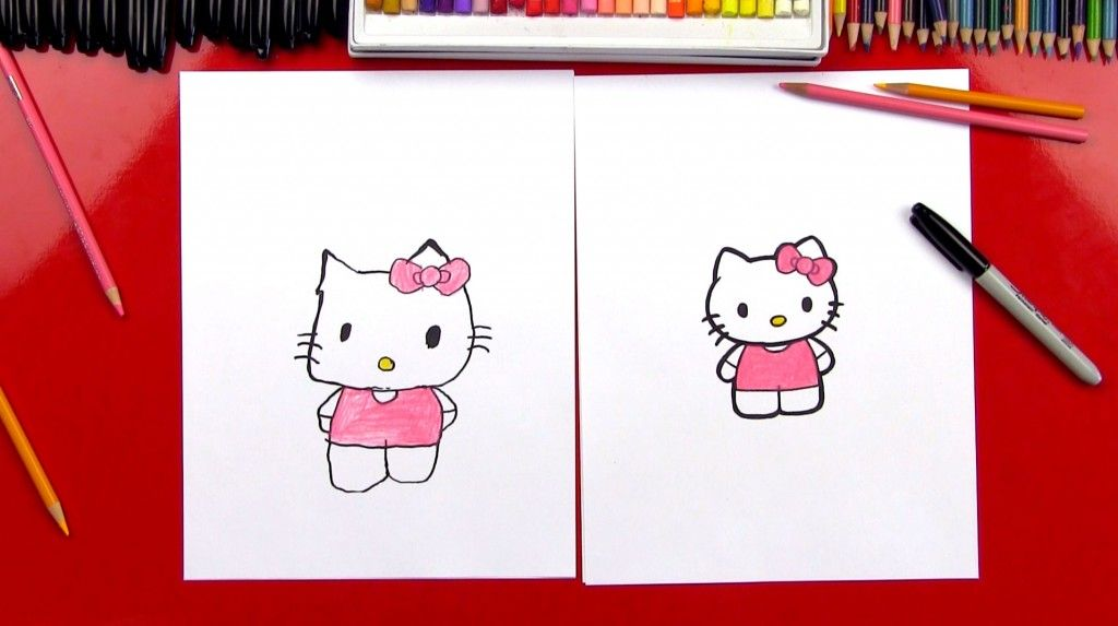 How to draw hello kitty hello kitty art art for kids