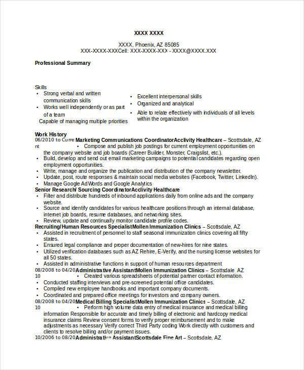 Marketing Communications Coordinator Resume , Marketing Resume ...