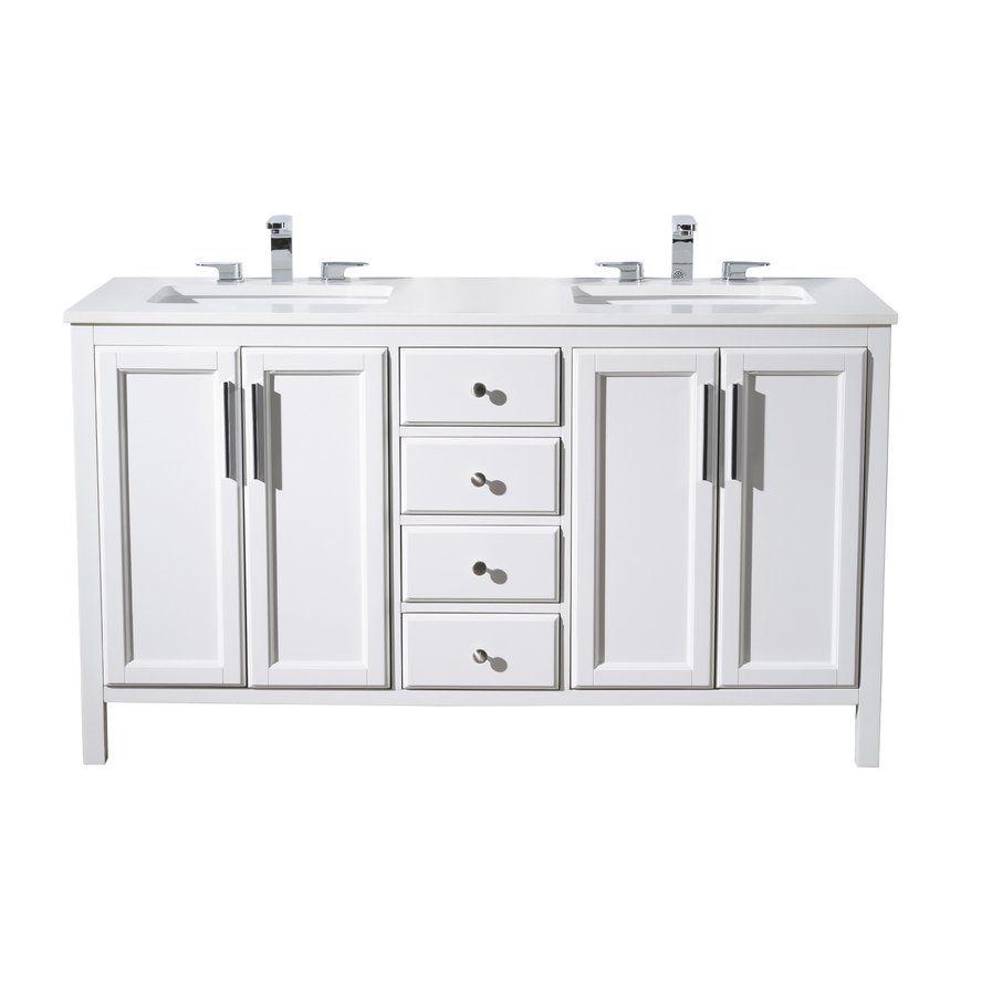 Carpentier 59 Double Sink Bathroom Vanity Set With Images Vanity