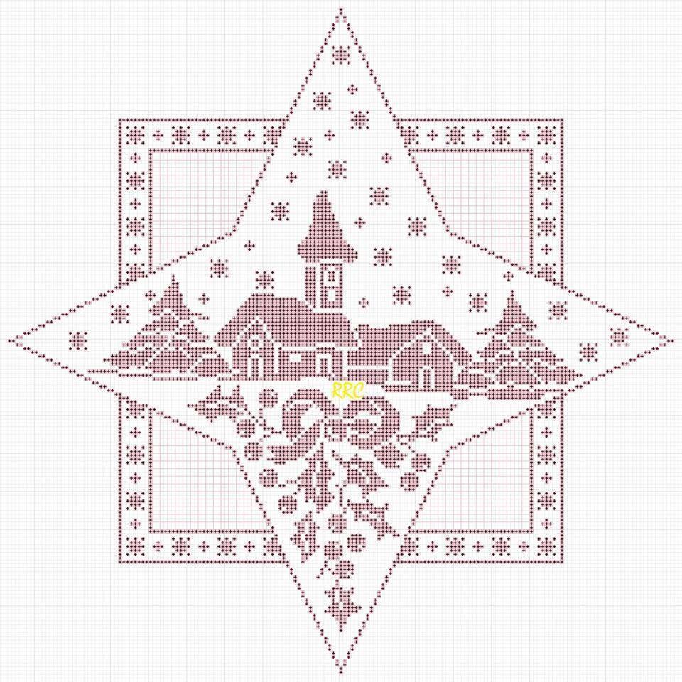 decke stern weihnachtsdorf h keln crochet crochet diverses pinterest weihnachtsd rfer. Black Bedroom Furniture Sets. Home Design Ideas