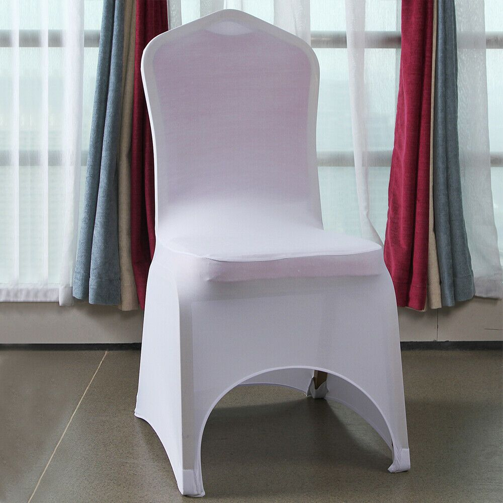 Ebay Sponsored 50pcs Elastic Polyester Spandex Chair Covers White