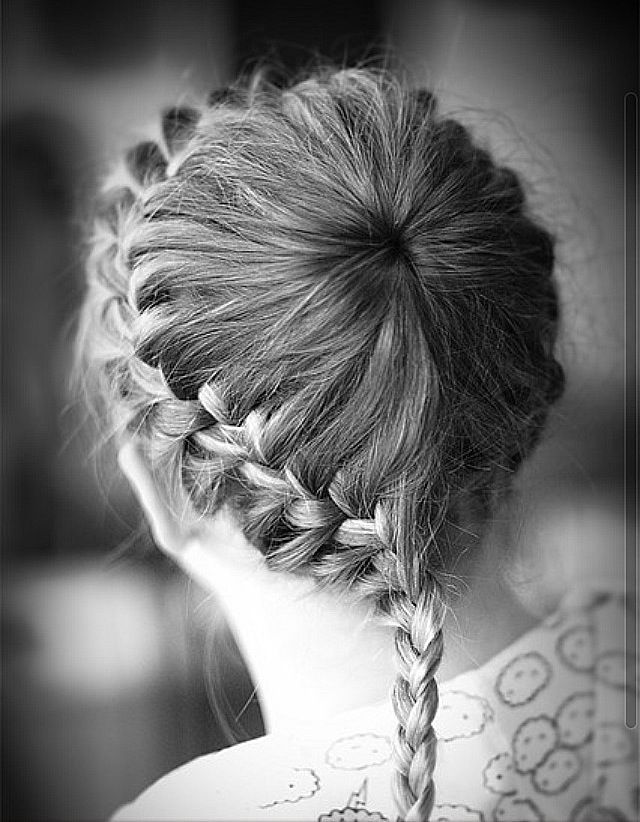 Neat crown braid parted at single point on head braids neat crown braid parted at single point on head ccuart Choice Image