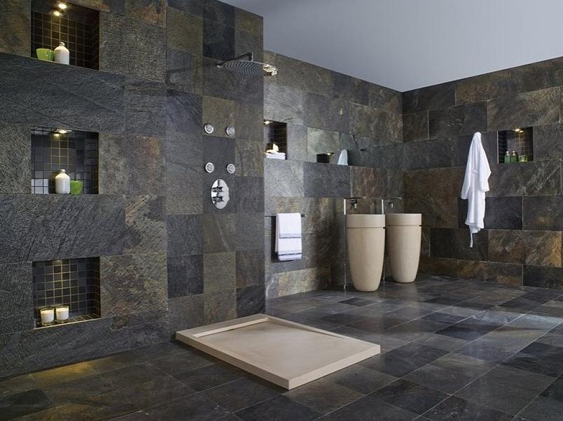 La feuille de pierre | Salle de bains moderne, Salle de bain ...