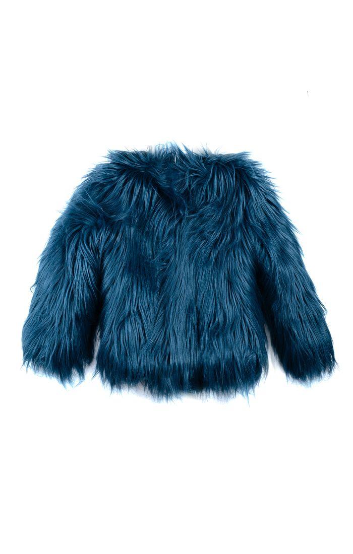 Pin By Kamari Kids On Fur Enzy Fur Coat Baby Coats Girl Blue Faux Fur Coat