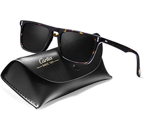 ade4f9bea4 Carfia Vintage Polarized Sunglasses for Men