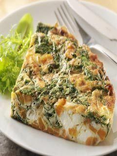 Gordon Ramsay's Sweet Potato, Spinach And Feta Frittata - now