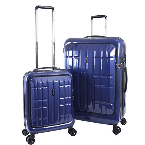 Luggage Sets Collections Travelers Polo Racquet Club Flexfile 2piece Expandable Spinner Luggage Set Blue One Size Spinner Luggage Sets Luggage Sets Luggage