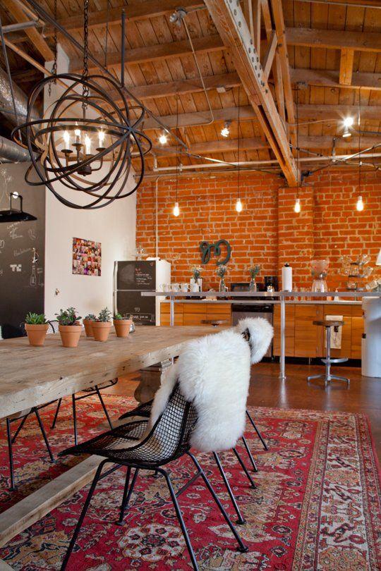 Alfombra Persa Estilo Industrial Cocina Boho Apartamento