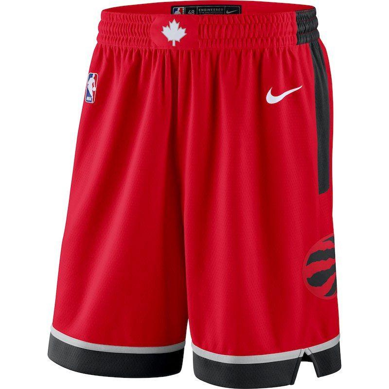 200ae6b550d6ea Toronto Raptors Nike 2018/19 Icon Edition Swingman Shorts - Red in ...