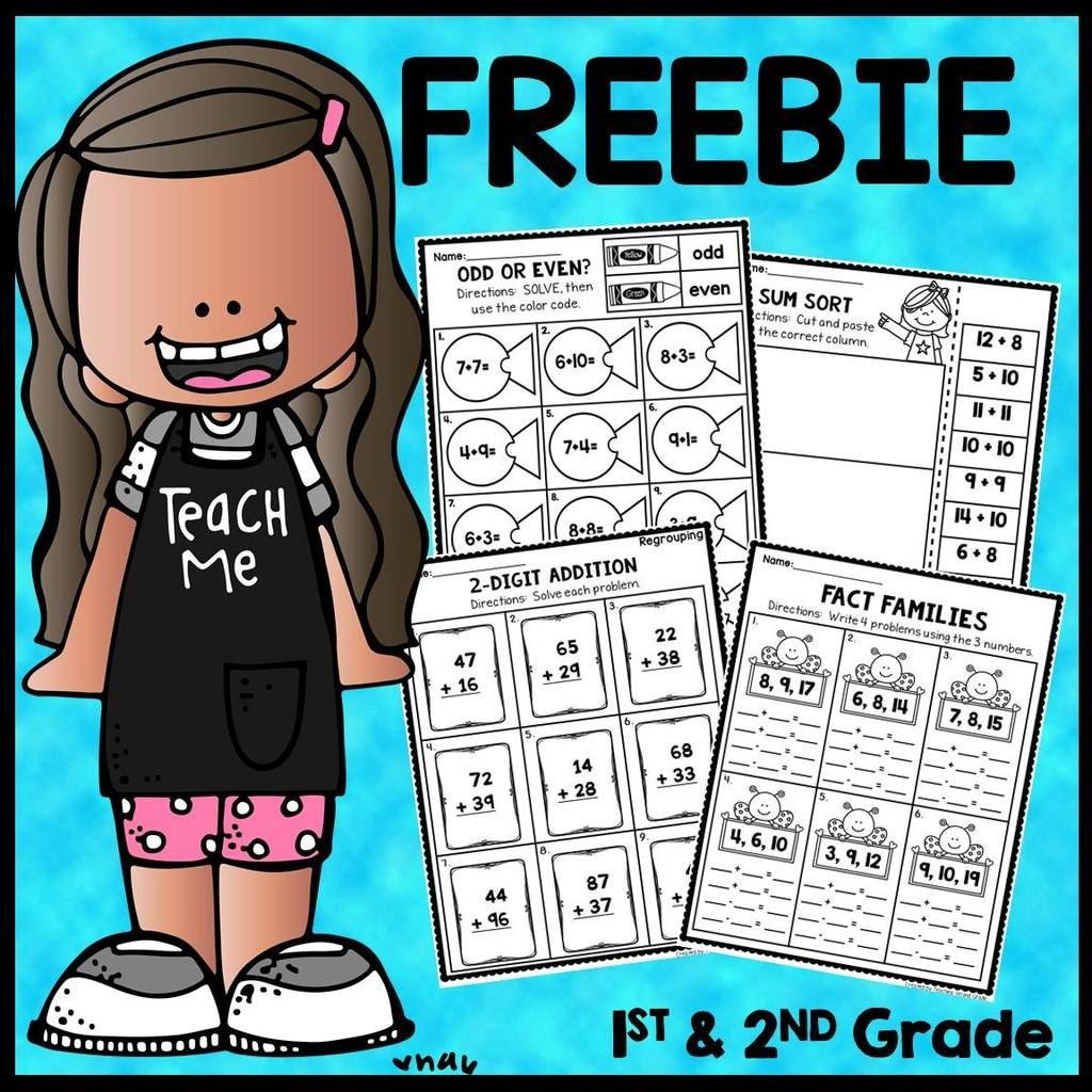 1st And 2nd Grade Math Worksheets In With Images