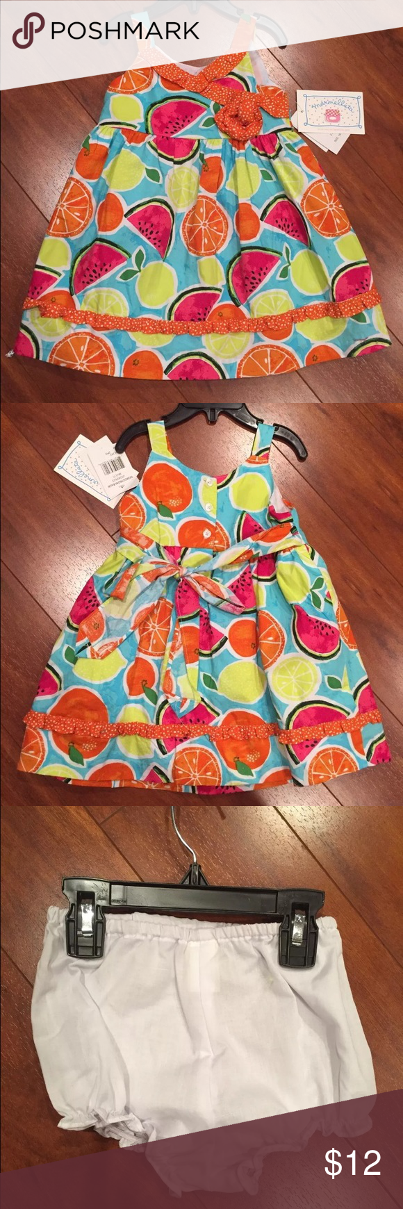 NWT 2 Piece Marmellata Citrus Lemon Dress 18 M Super cute! Marmellata Dresses Casual
