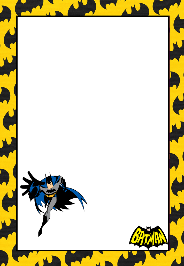 here some free printable batman invitations cards or labels you can use them as well for making cards photo frames signs backgr