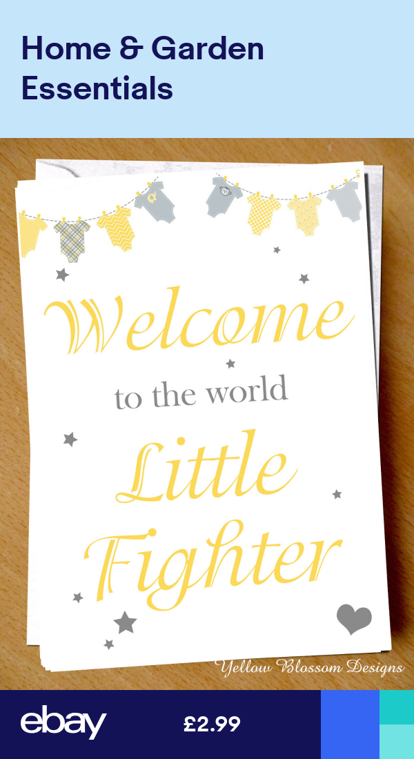 Premature Baby Card Prem NICU New Born Support SCBU Child Little Fighter Battle