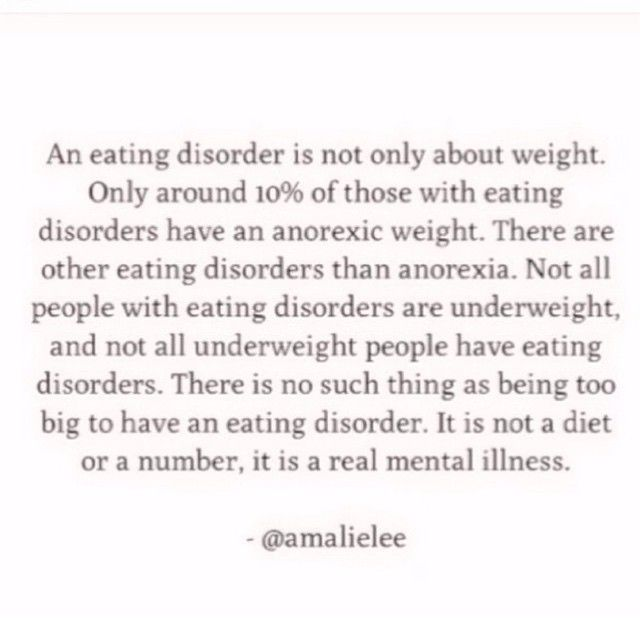 Anorexia eating disorders