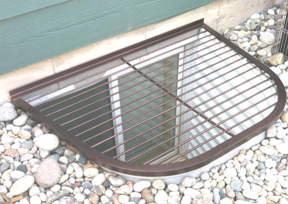 Basement Cute Heavy Steel Basement Window Well Covers With Gravel