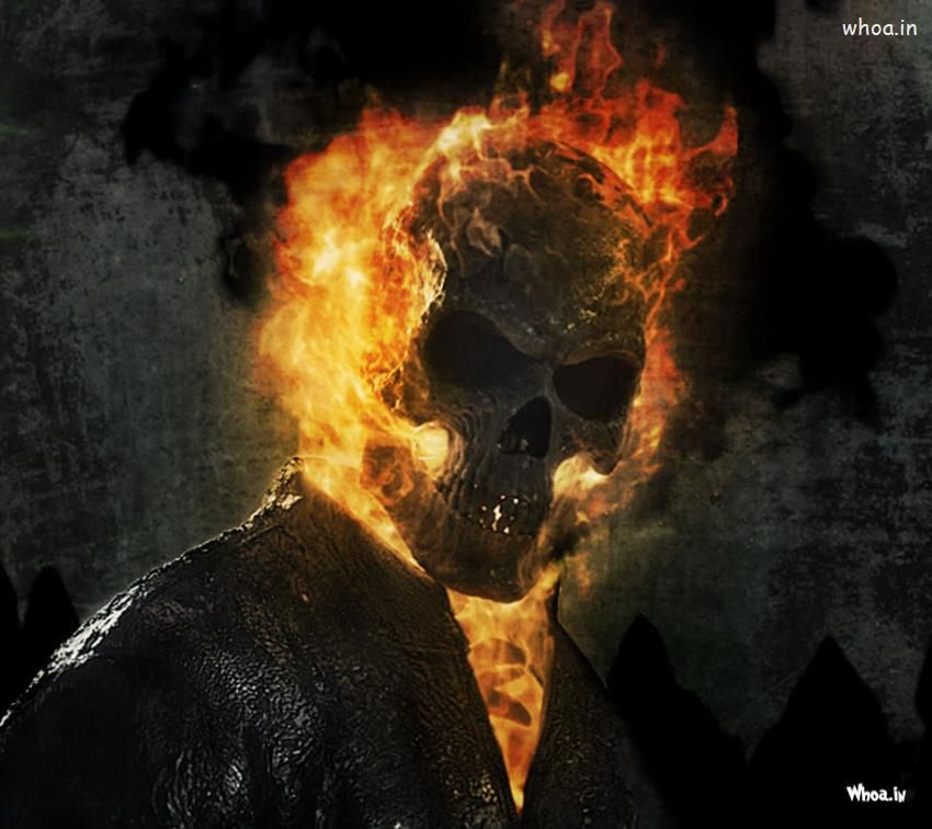 Ghost Rider Fire Face Hd Wallpaper For Mobile Ghost Rider Tattoo Ghost Rider Johnny Blaze Ghost Rider Marvel