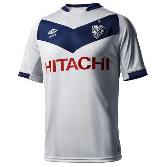 b2aec7e118c6e Camiseta Umbro Vélez Sarsfield Oficial 15 16 - Blanco+Azul-Marino Futbol  Argentino