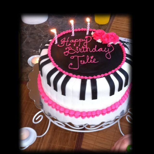 Piano Birthday Cake For Julie. Made By Misti Short Cakes
