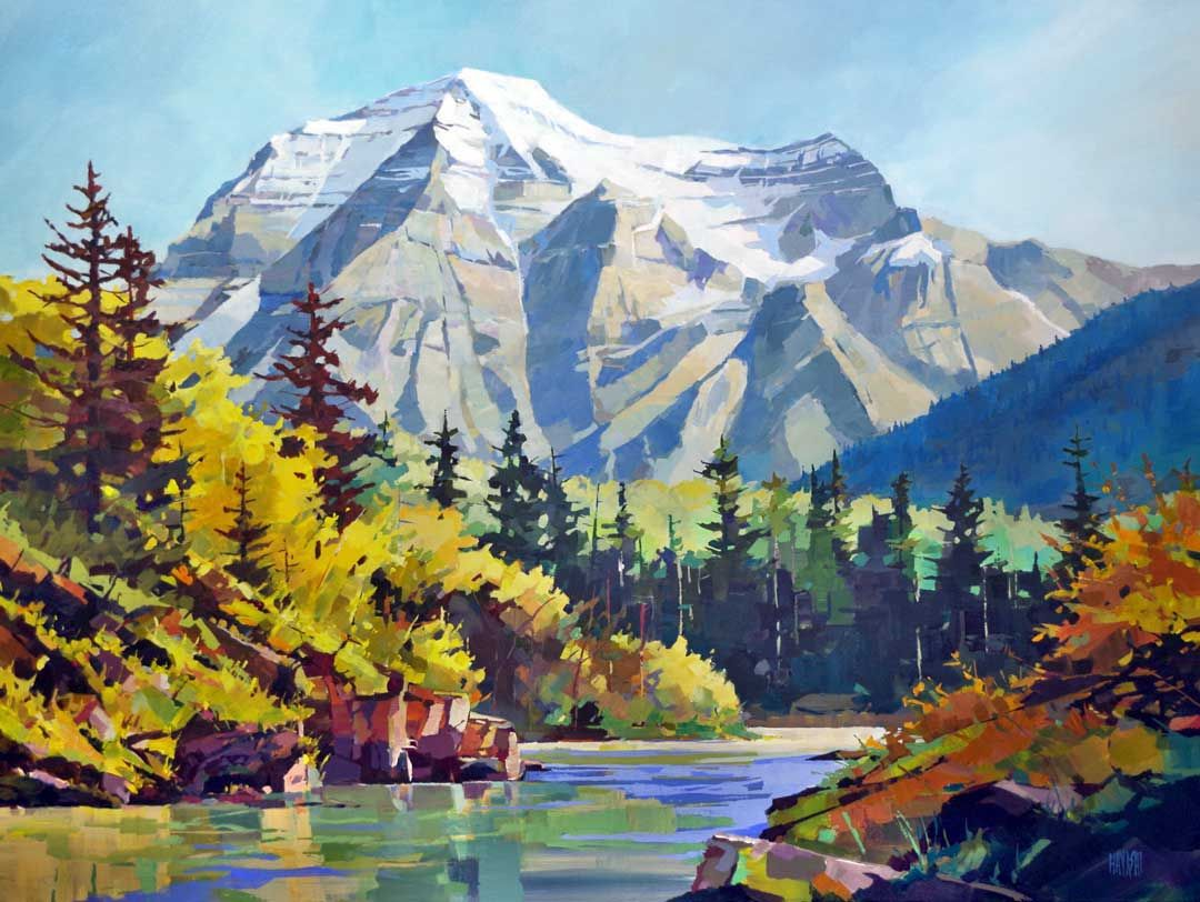 Autumn at robson 40x60 with images landscape artist