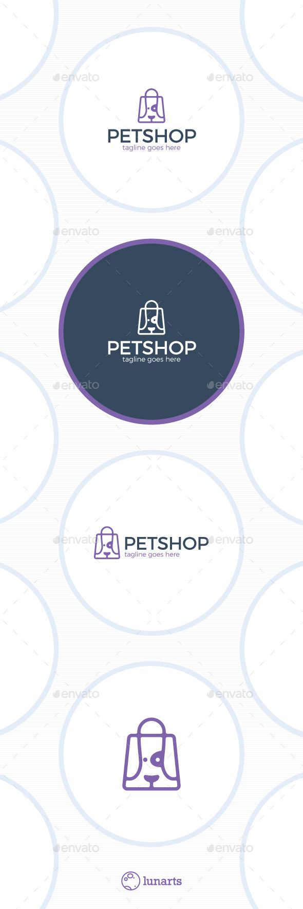 Pet Store Logo  Dog Bag — Vector EPS #professional #house