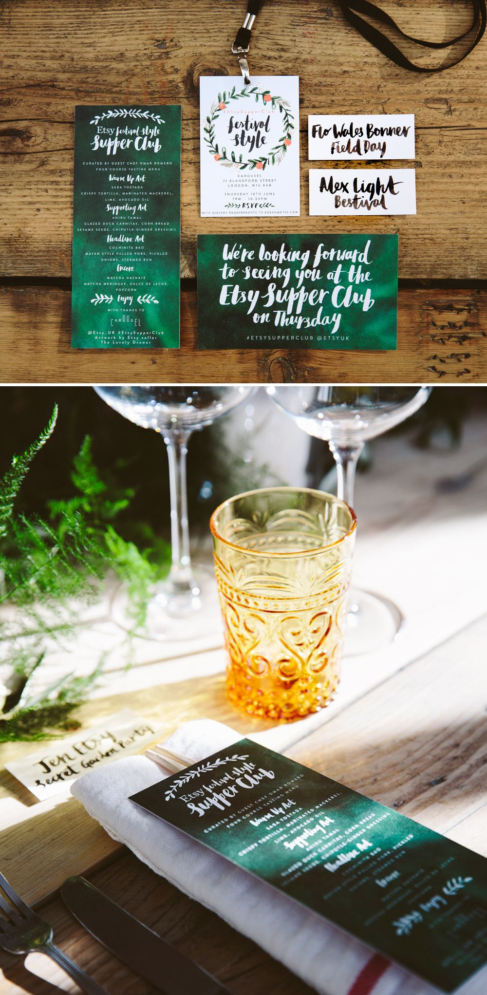 Etsy Supper Club | Typography - Lettering | Supper club, Etsy